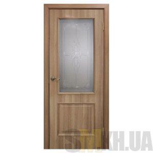 Двери межкомнатные ОМиС «Версаль ПВХ» (полотно со стеклом с контурным рисунком)
