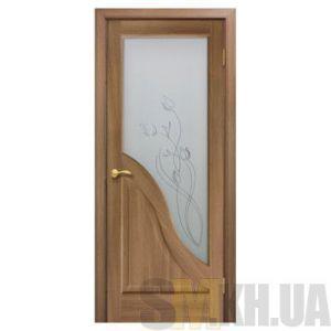 Двери межкомнатные ОМиС «Габриэлла ПВХ» (полотно со стеклом с контурным рисунком)