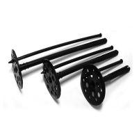 Крепление для пенопласта черное с пл. гвоздем 10*100 мм (100 шт)