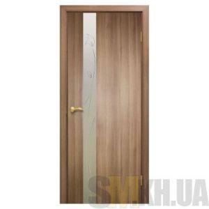 Двери межкомнатные ОМиС «Зеркало 3 ПВХ» (с контурным рисунком)