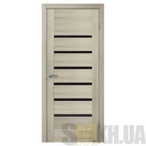 Двери межкомнатные ОМиС «Лагуна ПВХ» (полотно под остекление, черное стекло)