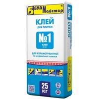 """Клеевая смесь цементна стандартная БудМайстер """"КЛЕЙ №1"""" (КВ№1), 25 кг"""