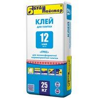 """Клеевая смесь цементная улучшенная для керамогранитных плит БудМайстер """"КЛЕЙ-12"""" (КН-12), 25 кг"""