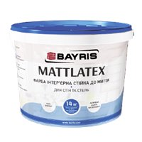 "Краска интерьерная БАЙРИС ""MATTLATEX"" моющаяся, 1,4 кг"