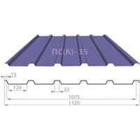 Профнастил ПС(К)-35 Pe (полиестер) 0,4 мм Китай (м.кв)